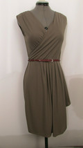 Anne Klein Faux Wrap Around Olive Dress Size 4 - $25.00