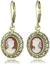 1928 Jewelry Vintage-Inspired Escapade Carnelian Drop Earrings - $36.99