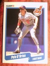 Baseball Fleer 1990 # 498 Pete O'brien Indians - $0.99