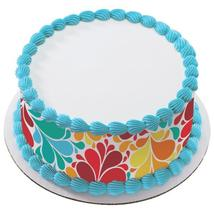 Color Burst Edible Cake Topper Image Strips - $9.99