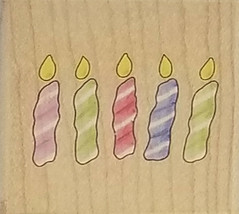 Stampabilities Candles Rubber Stamp #D1060