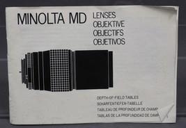 Vintage Minolta MD Lens Instruction Manual - $27.26