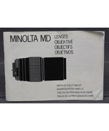 Vintage Minolta MD Lens Instruction Manual - $27.26