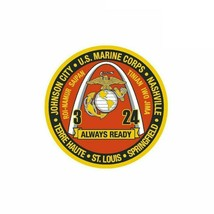 USMC 3Rd Battalion 24Th Marines USMC Armed Forces 4'' Sticker New!!! - $9.89