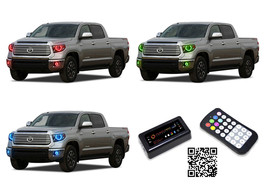 for Toyota Tundra 14-16 RGB Bluetooth LED Halo kit for Headlights & Fog ... - $194.24