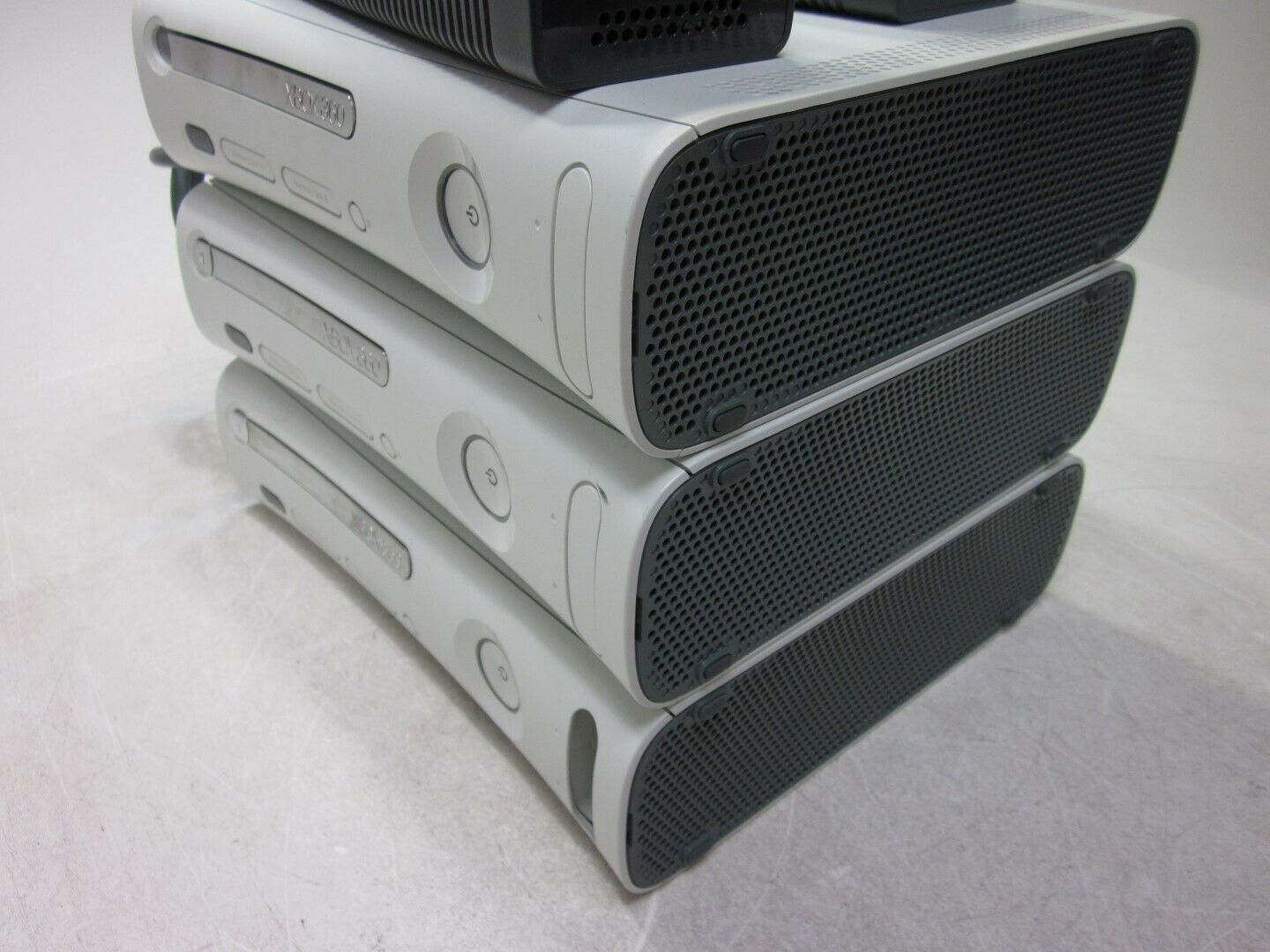 Lot of 3 Microsoft Xbox 360 Consoles 2x Power Supplies Red Ring AS-IS