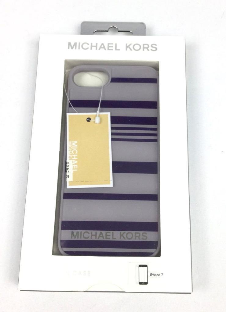 e50ba4978c561a Michael Kors iPhone 7 Lilac Purple Stripes Phone Case 35H7SE9L1P - $39.99