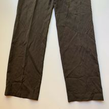 Giorgio Armani Women's Size 40 / Small Brown 100% Wool Dress Pant Trousers Italy image 5