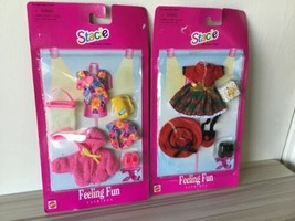 New In Package Mattel Stacie Feeling Fun Fashions Lot Of 2 #68648 1997 L - $44.54