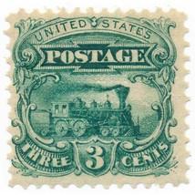 114-E6d, 3c Locomotive Plate Essay in Green on Stamp Paper, OG, LH, 1869 - $79.00