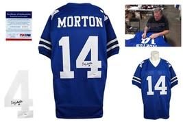 Craig Morton SIGNED Jersey - PSA/DNA - Dallas Cowboys Autographed w/ Photo - RYL - $108.89