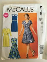 McCalls Sewing Pattern MP362 Misses Dresses Flare or Straight Skirt Sz 6... - $8.99