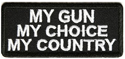 My Gun My Choice My Country Patch - 3x1.25 inch