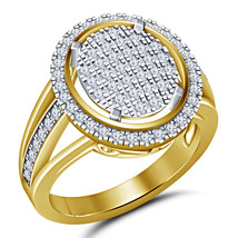 14k Yellow Gold Finish 925 Sterling Silver Womens Wedding Simulated Diamond Ring - $79.99
