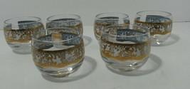 Hollywood Regency Greek Mythology Roly Poly Cordial Glasses Mid Century ... - $33.97