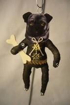 Vintage Inspired Spun Cotton Pug Dog Ornament image 1