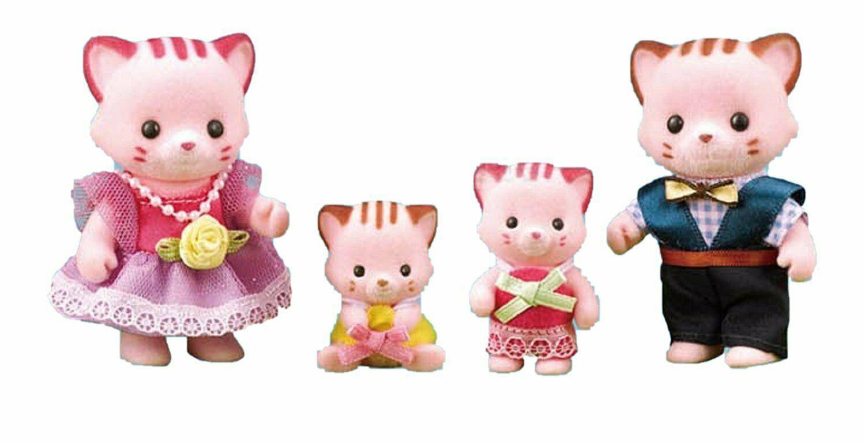 Konggi Rabbit and Friends Lina Cat Family Stuffed Animal Cat Plush Toy