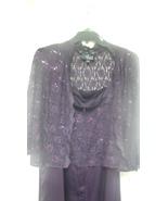 Alex Evenings Women's Plus Size Long Dress with Mandarin Neckline Jacket... - $75.00