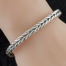 John Hardy Sterling Silver and 18k Gold Square Wheat Chain Bracelet - $445.49