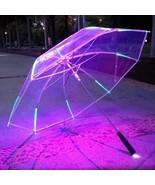 LED Umbrella Blade Runner Style Changing Color Flashlight Transparent Ha... - $52.47