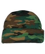 Preemie & Newborn Baby's Green Camouflage Hat  - $9.00