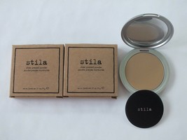 2 Stila Sheer Pressed Face Powder - Dark - Full Size - Nib - $29.69