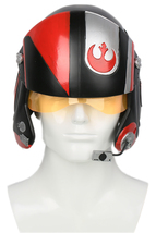 Poe Dameron Helmet Star Wars 7 X-Wing Resin Mask Cosplay Halloween Party... - $130.34 CAD