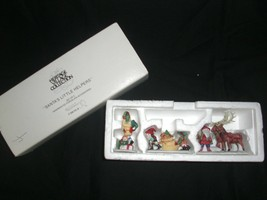 Heritage Village Collection Santa's Little Helpers Figurines Dept 56 #5610-3 New - $22.99