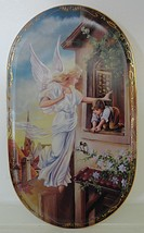 Someone to Watch Over Me Helping Hand on High Collector Plate Bradford E... - $25.99