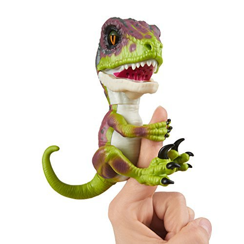 WowWee Untamed Raptor Fingerlings - Stealth Green - Interactive Collectible Dino