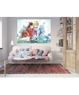 3D Beautiful Lotus P416 Anime Character Wall Mural Decal Stickers Poster... - $20.53+