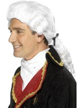 Long White Pony Tails Wig, Court Gentleman's Wig, Fancy Dress Accessory - $12.76