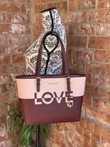 Women's Designer Travel LOVE HANDBAG Medium Sized Shoulder Tote Bag Mich... - $189.99