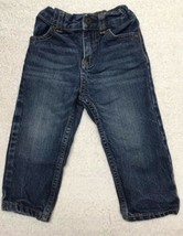 OshKosh B'Gosh Baby Girl Dark Blue Denim Jeans 18 Months  - $9.89