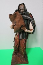"Large 20"" Paper Mache Old Lady Collecting Coal W/Shawl Mexican Folk Art - $39.60"