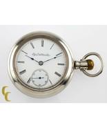 Silveroid Elgin Antique Open Face Pocket Watch Grade 96 Size 18 7 Jewel - $223.05