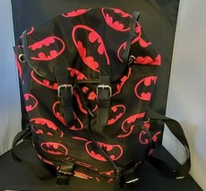 DC Comics Authentic Batman Backpack with vinyl or leather straps and bas... - $14.50
