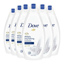 Dove Deeply Nourishing Bath Shower Body wash 6 x 450ml - $24.18