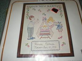 "Bucilla Creative Needlecraft ""Our New Baby"" Cross-Stitch Sampler No. 11731 NIP - $10.78"
