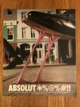Absolut *%@*/@#!! Gum on Shoe Magazine Ad - $3.49