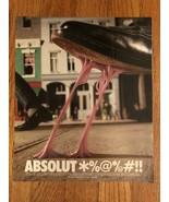 Absolut *%@*/@#!! Gum on Shoe Magazine Ad - $3.49
