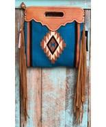 American Darling Turquoise Serape Basket Weave Clutch/Shoulder Bag - $129.99
