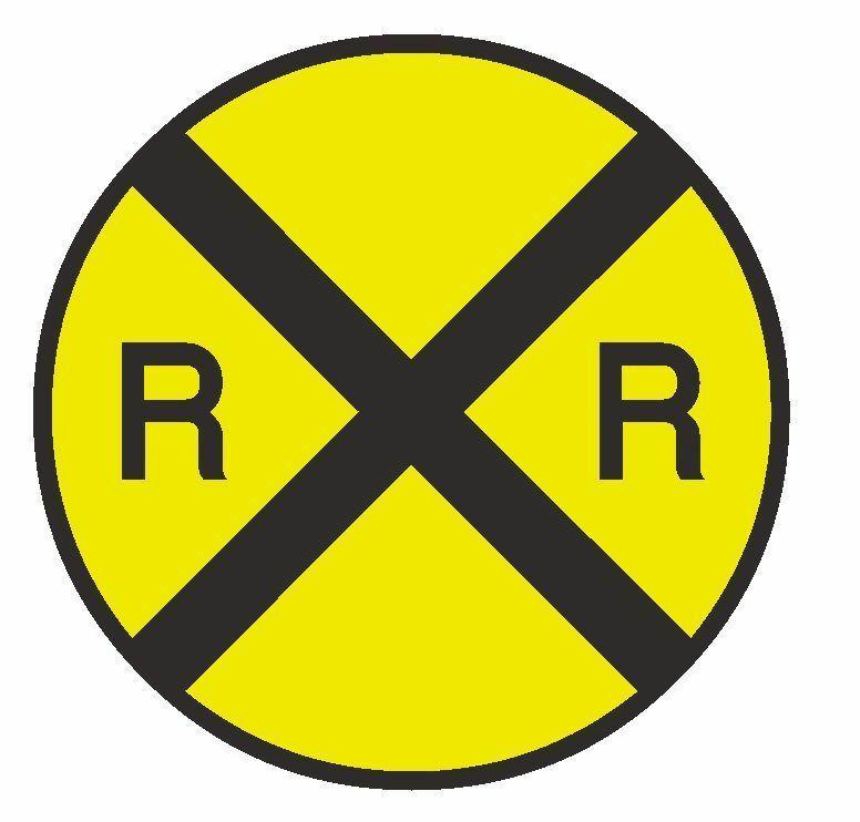 Railroad Crossing Sticker TOOL BOX Locker R31 CHOOSE SIZE FROM DROPDOWN - $1.45 - $9.45