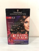 New Schwarzkopf Keratin Color Anti Age Hair Color Shade is Berry Brown 5.3 - $14.46