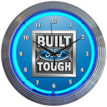 "Licensed Built Ford Tough Auto Car Garage OLP Sign Neon Clock 15""x15"" - $69.00"