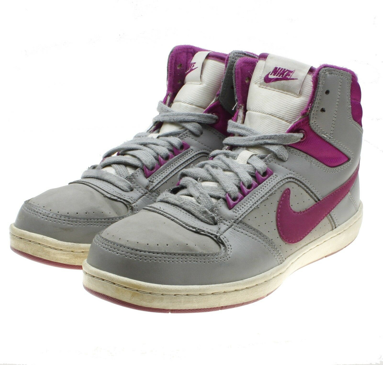 NIKE Delta LITE MID Womens Gray Fuschia Basketball Sneakers #386112-018