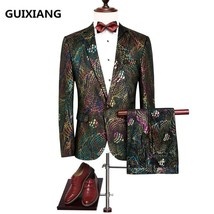 "Jacket+Pant+Vest 2017 autumn Men""s suit Slim Fit fashion casual wedding ... - $166.40"