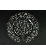 "Fostoria Chintz Dinner Plate, Vintage Elegant Etched Baroque Shape 9 1/2"" - $19.60"