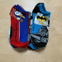 14 Pairs DC Comics/Marvel Batman/Spiderman Socks, Character Socks, Sz L 3-9 - $14.73