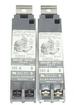 LOT OF 2 ALLEN-BRADLEY 595-A AUXILIARY CONTACTS 595A SER. B